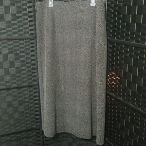 Maxi skirt- black and white and grey